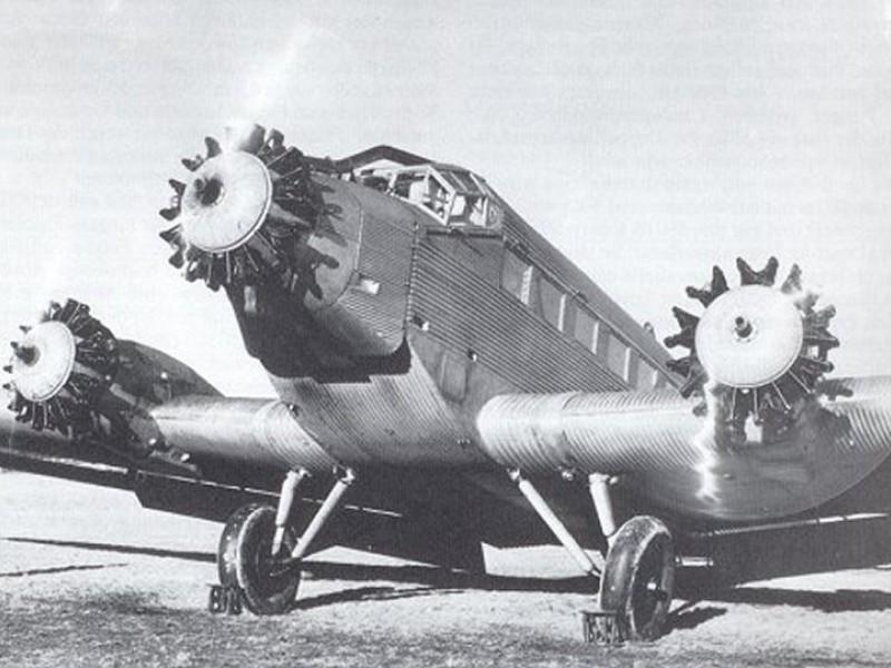 Junkers JU 52 - rozbity w okolicy